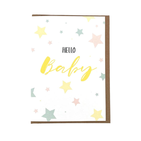 """Hello Baby"", Baby Card"