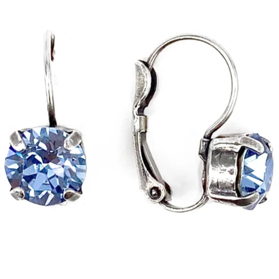 Light Sapphire, 8mm Crystal Drop Earrings