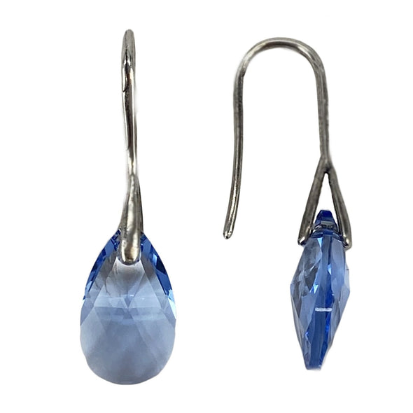 Light Sapphire, Pear Drop Earrings