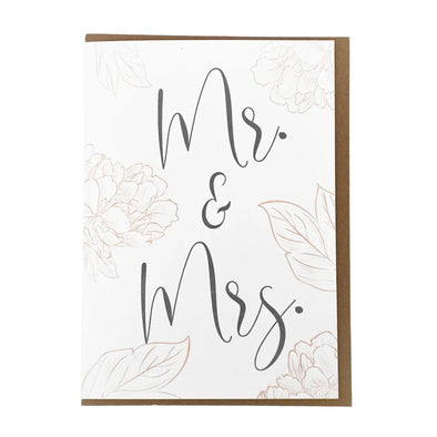 """Mr. & Mrs."", Wedding Card"