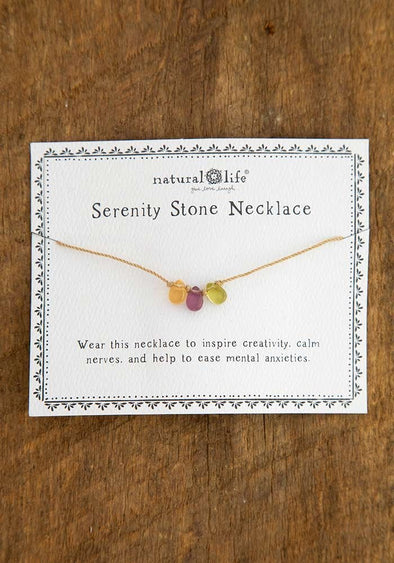 Purple and Green, Serenity Stone Necklace