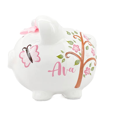 Pink Owl Piggy Bank