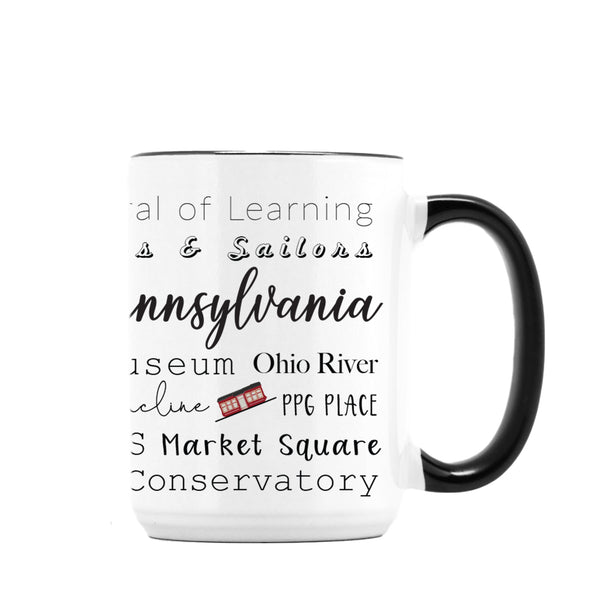 Pittsburgh Places Mug