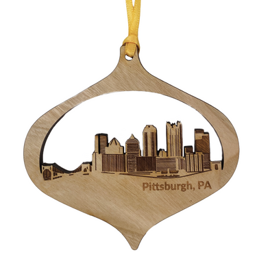 Skyline, Wood Ornament