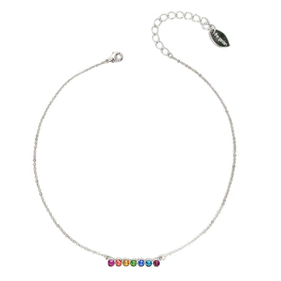 Happy Hour, Crystal Bar Necklace