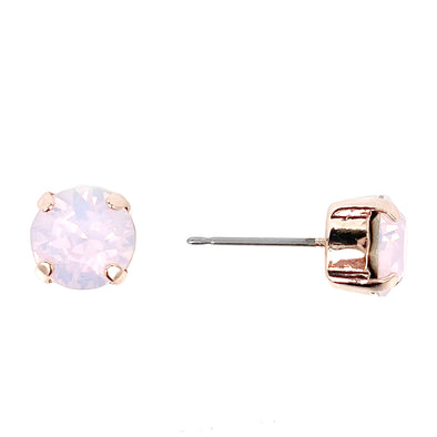Rose Water, Opal 8mm Crystal Stud Earrings