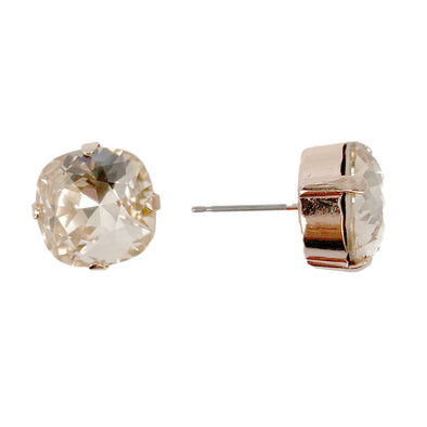 Silk, 12mm Crystal Stud Earrings