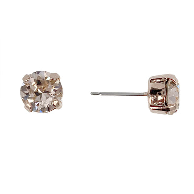 Silk, 8mm Stud Earrings, Wholesale