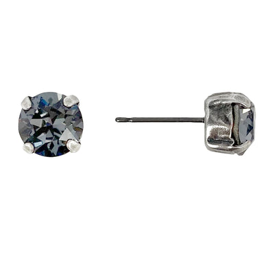 Silver Night, 8mm Stud Earrings