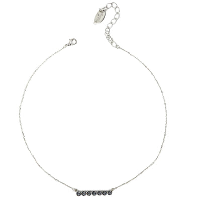 Silver Night, Crystal Bar Necklace