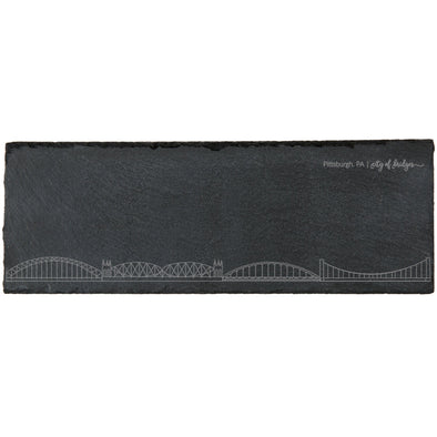 Pittsburgh Bridges Slate Cheese Board