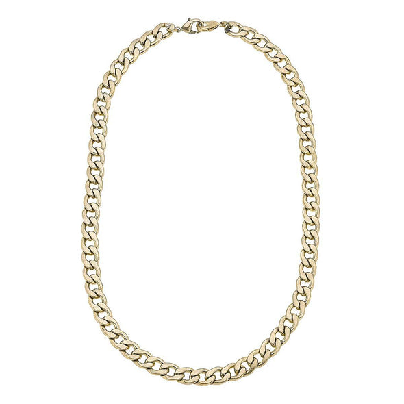 "Worn Gold, 20"" Curve Mask Chain"
