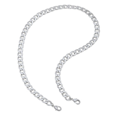 "Worn Silver, 20"" Curve Link Mask Chain"