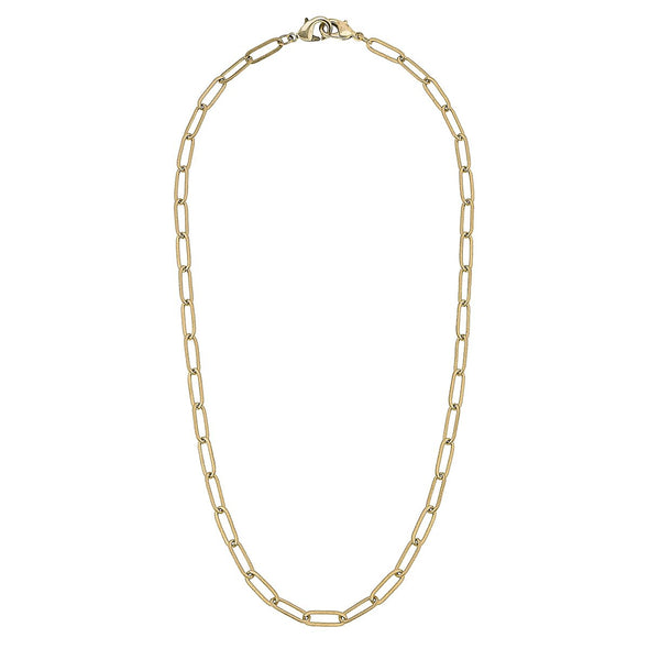 "Worn Gold, 20"" Large Paperclip Link Mask Chain"