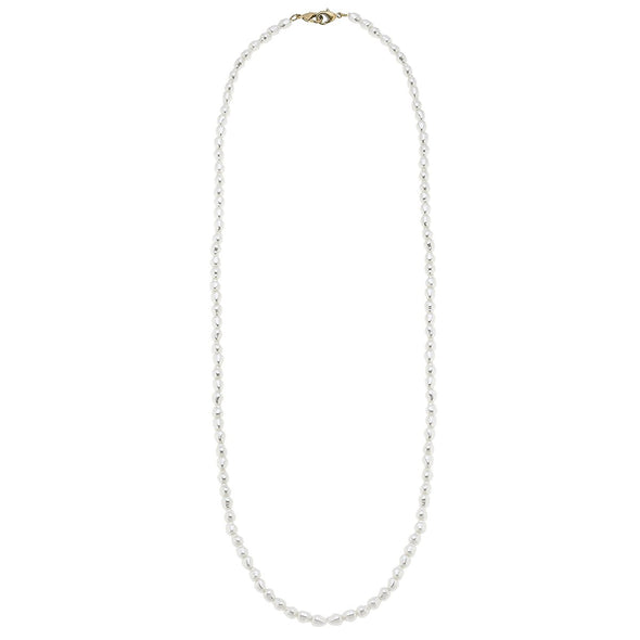 "White, 32"" Baroque Pearl Mask Chain"