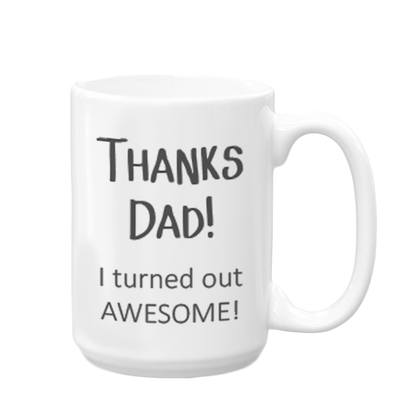 Thanks Dad, Father's Day Mug, Wholesale