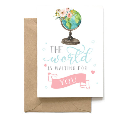 The World Is Waiting For You, Graduation Card, Wholesale