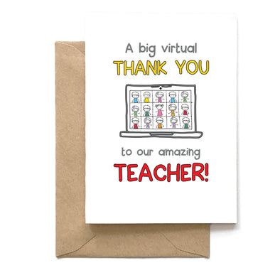 Virtual Thank you, Teacher Card, Wholesale