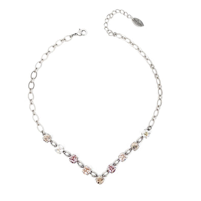 Grace, 8mm Crystal V Necklace