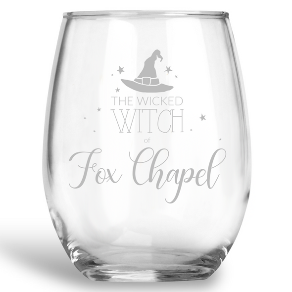 The Wicked Witch of Fox Chapel, Stemless Wine Glass