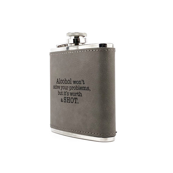 Worth a Shot Flask