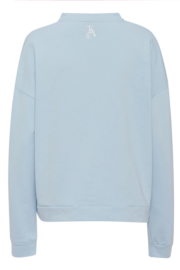 BABE V Neck Sweat - Light blue