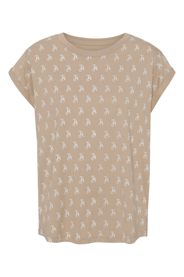 BELLA all over print T-shirt - Beige