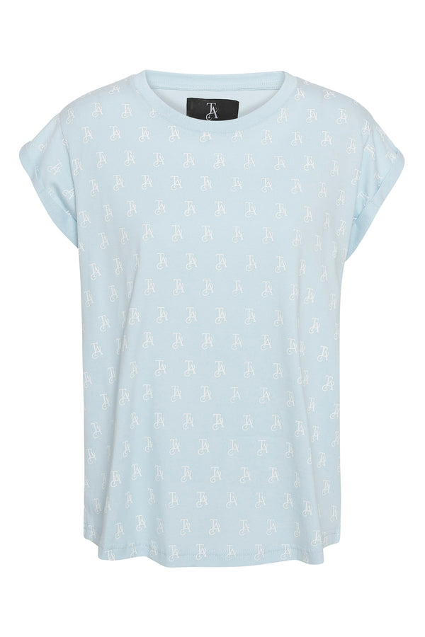 BELLA all over print Tee Light blue