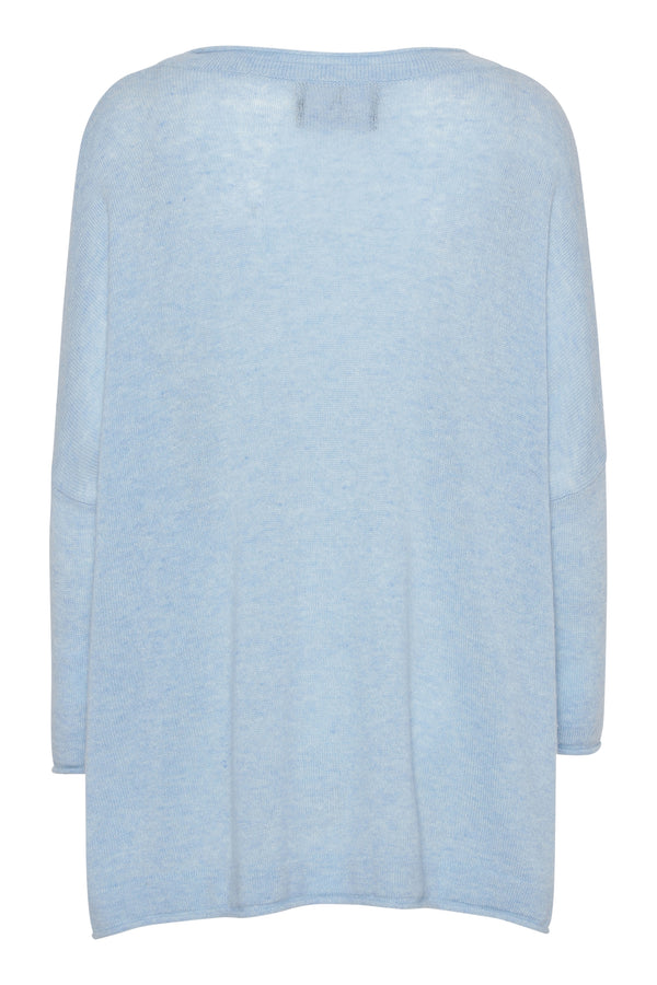 Fina boxy jumper - Light blue melange