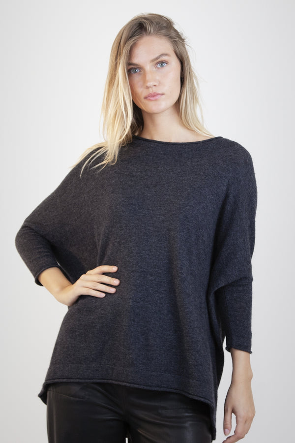 Fina Boxy Jumper (dark grey)