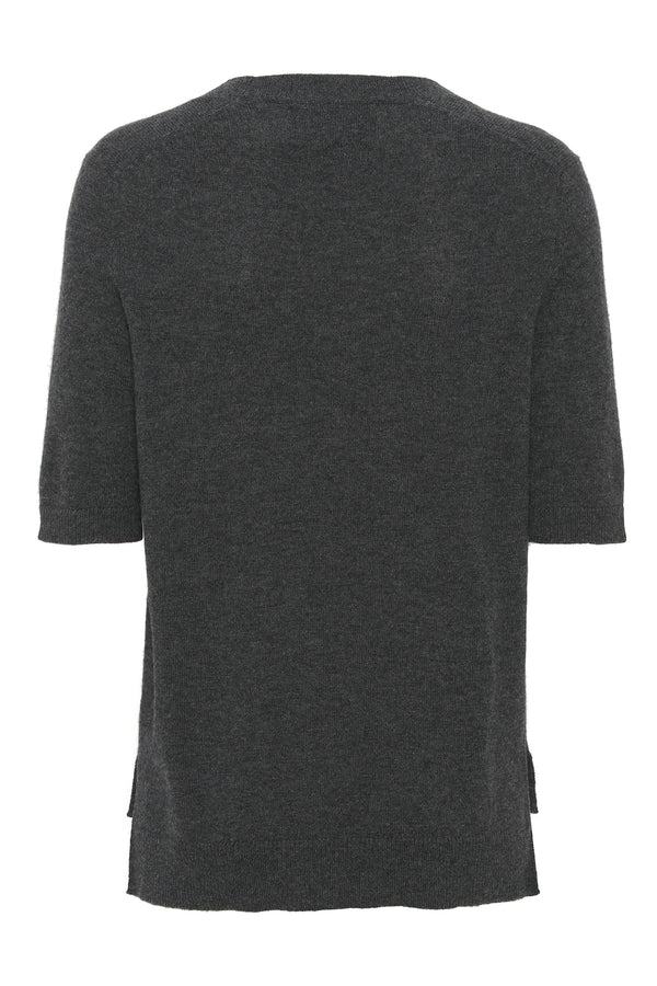 LOUISA Short Sleeve (dark grey melange)