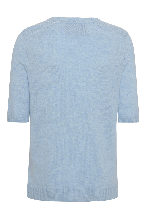 LOUISA Short Sleeve - Light blue melange