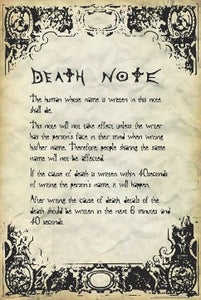 Deathnote - Rules