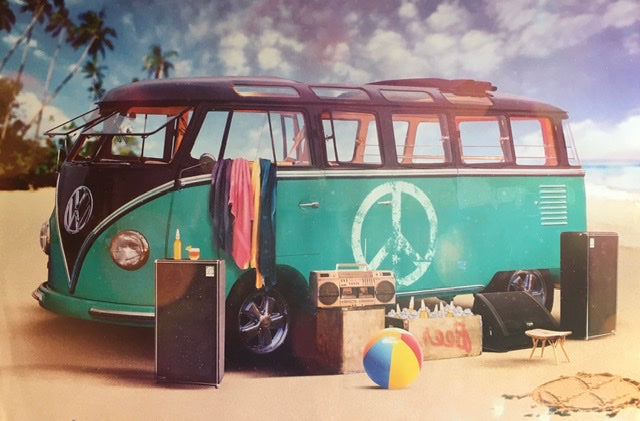 VW Camper - Beach
