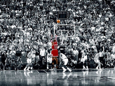 Chicago Bulls Michael Jordan - Title Winning Last Shot in Chicago