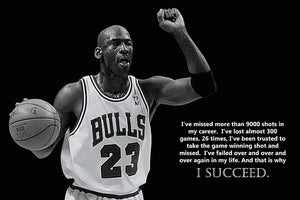 Chicago Bulls Michael Jordan - I Succeed