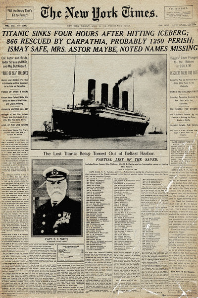 Titanic - Newspaper