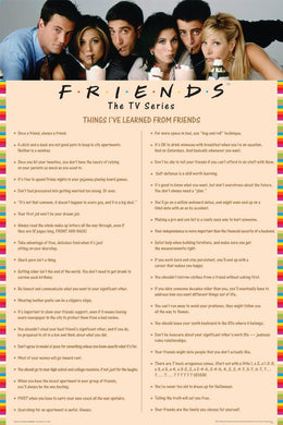 Friends - Things I've Learnt