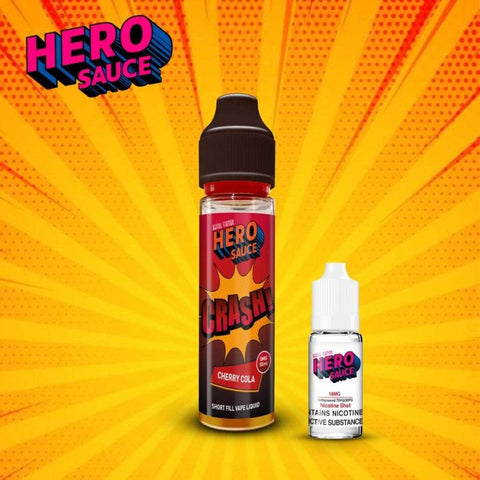 Hero Sauce CRASH Cherry Cola with Free Nicotine Shot