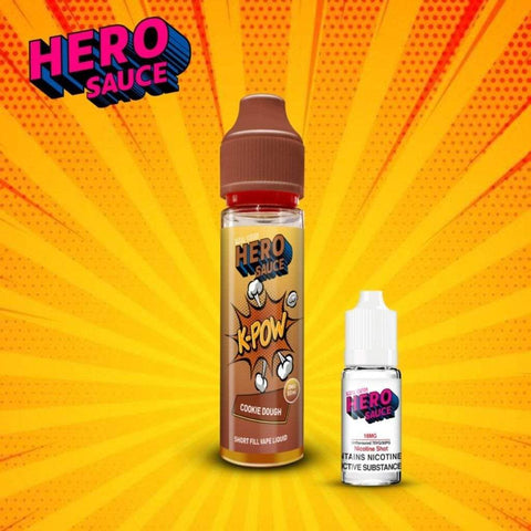Hero Sauce K-POW Cookie Dough with Free Nicotine Shot