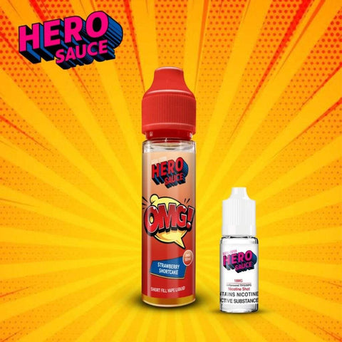 Hero Sauce OMG Strawberry Shortcake with Free Nicotine Shot