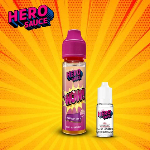 Hero Sauce WOW Raspberry Ripple with Free Nicotine Shot