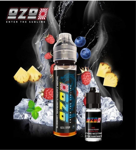 OZO Blueberry, Raspberry & Pineapple Menthol with Free Nicotine Shot
