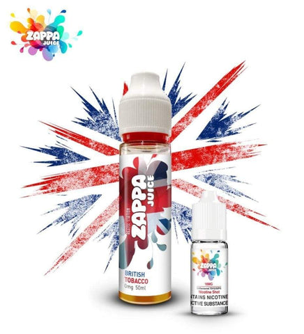 Zappa Juice British Tobacco with Free Nicotine Shot