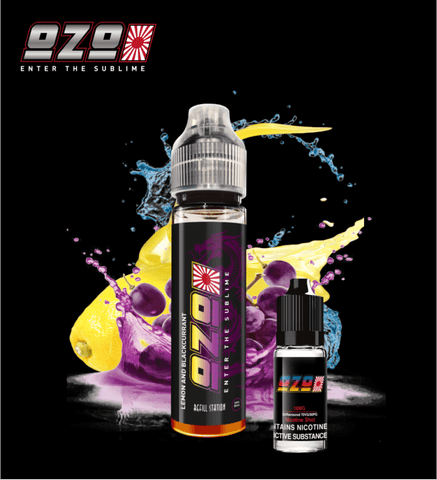 OZO Lemon & Blackcurrant with Free Nicotine Shot