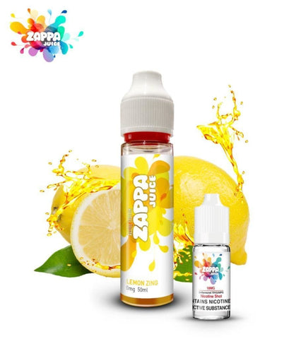 Zappa Juice Lemon Zing with Free Nicotine Shot