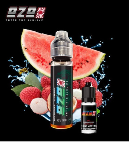 OZO Watermelon & Lychee Menthol with Free Nicotine Shot
