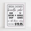 Bridal Shower Bundle Sale