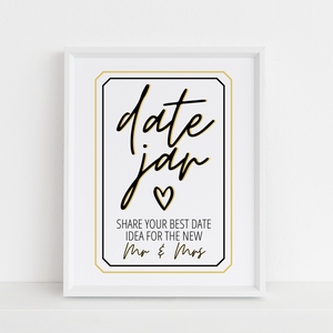 Date Jar Sign and Cards