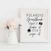Polaroid Guestbook Sign